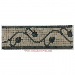 "Trenton (green), Honed Mosaic Tile Listello 4"" x 12"""